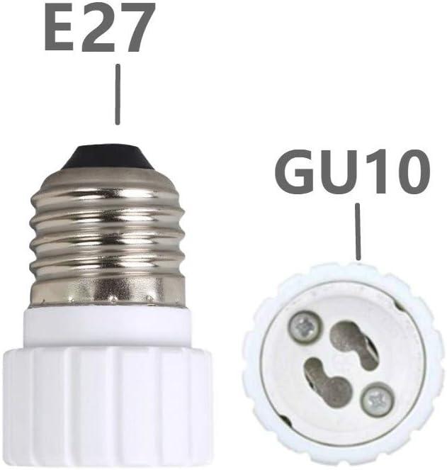 2-Unidades Luxvista E27 Portal/ámpara de EU con Interruptor con Enchufe Base para Bombilla de Casquillo Gordo