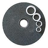 FAST WORLD SHOPPING ® Disco In Ossido Alluminio Pietra 150 Mm Per Mola Da Banco Con Grana 80 Tipo Flat