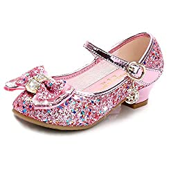 Pink/B1 Heels Mary Jane Princess Flower Girl Shoes