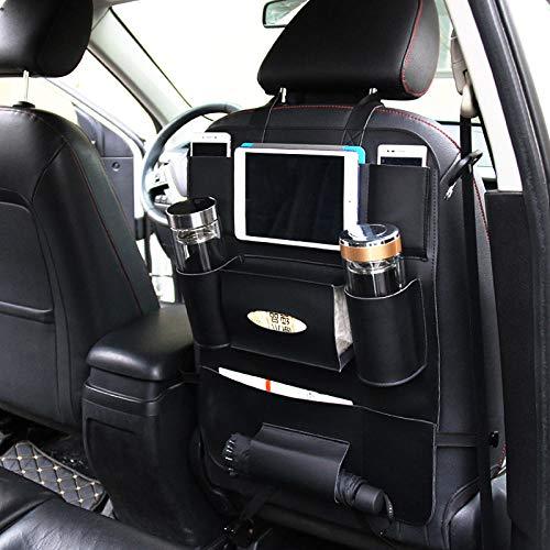 Wäschekorb Aufbewahrungstasche Für Die Rücklehne des Reiseautos Kratzfestes Pu-Leder Auto-Gepäckträger Mit Mehreren Taschen @ Schwarz