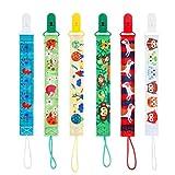 Toyvian correa de chupete para bebé clip para cadenas de chupete para bebé unisex, 6 piezas