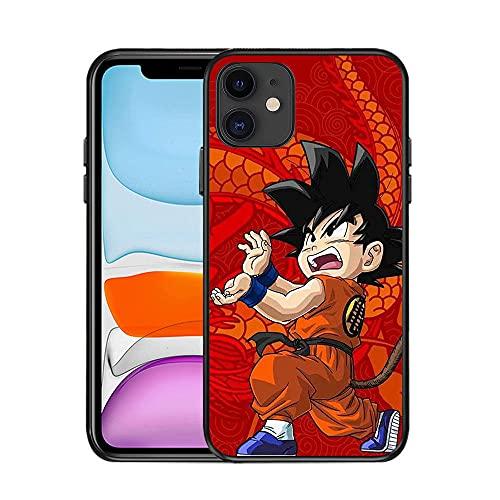 JINGJINGJIAYOU para iPhone 11 Pro MAX 8 8plus Super Z Monkey Monkey King/Goku Anime Dragon Dragon Ball Case Funda telefónica-Esfera del dragón_iPhone 6 Plus
