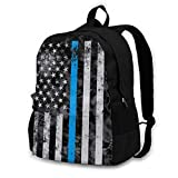Flag of The United States Youth Adult Backpack College Bookbag Shoulder Laptop Bag Rucksack Daypack for Tourism Mountaineering Shopping Zoo Park Outdoor Sports