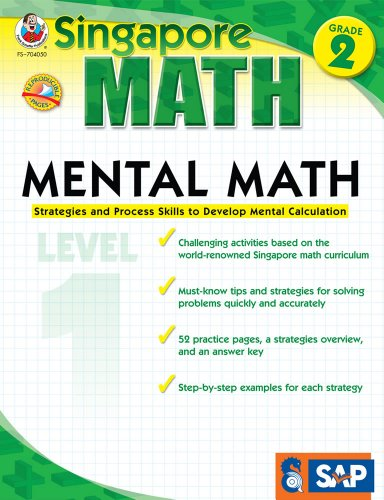 Singapore Math – Mental Math Level 1 Workbook for 2nd Grade, Paperback, 64 Pages, Ages 7–8 with Answer Key