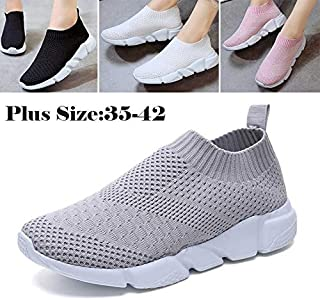 Fashion Breathable Mesh Shoes Women's Shoes Outdoor Sports Running Shoes(Pink,EU41(US10).)