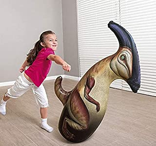 ML tentepie muñecos y Animales Hinchable tentetioso . muñeco Dinosaurio Hinchable para niños (Marron-Dinosaurio)