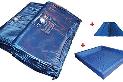 my-waterbed Wasserbettmatratzen Wasserbett Matratze Wasserkern für Dual System (180 x 200 cm, 110% Beruhigung = ca. 0 Sek. Bewegung)
