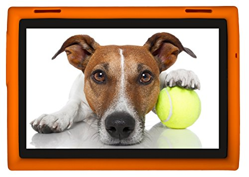 Bobj Rugged Case for Lenovo Tab 4 10 inch, TB-X304F, TB-X304L, TB-X304X, (NOT FOR Tab 4 10 Plus TB-X704) - BobjGear - Patented Venting - Sound Amplification - BobjBounces Kid Friendly (Orange)