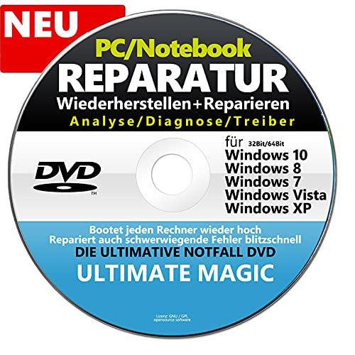 REPARATUR CD/DVD, Datenrettung für Windows ✔32 & 64 Bit Computer Reparatur