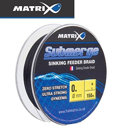 Fox Matrix Submerge Feeder Braid 150m - Reederschnur sinkend zum Feederangeln, Geflochtene Schnur zum Feederfischen, Feeder Schnur, Durchmesser/Tragkraft:0.10mm / 6.16kg Tragkraft