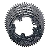 Pathpark Bike Chain Ring 130BCD 50T 52T 54T 56T 58T 5 Bolts Lightweight Narrow Wide Bicycle Chainring(58T Black)