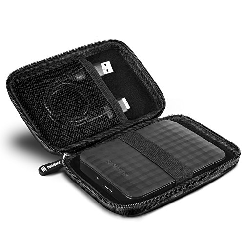 Duronic HDC2 Kleines Etui für Externe Festplatte – kompatibel mit Western Digital, Toshiba, Buffalo, Hitachi, Seagate, Samsung und vielen Anderen