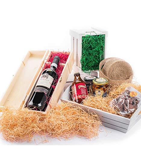IMBALLAGGI 2000 - Paglia per Cesti - Paglia Decorativa Imballaggio e Riempimento - Truciolo per Cesti Natalizi, di Pasqua, Regalo Color Legno - Confezione da 9,5 kg