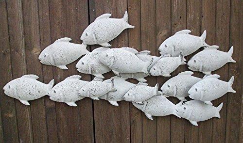 Wunderschönes Wandobjekt, Fische, Wanddekoration, Eisen, Handarbeit