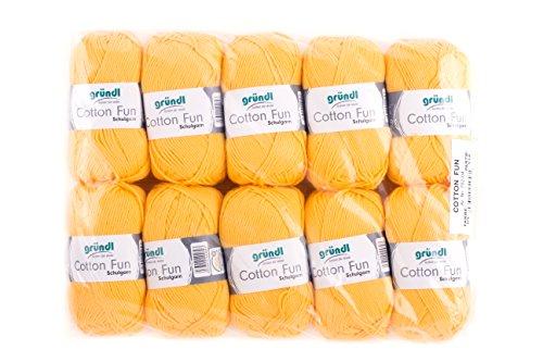 Gründl Cotton Fun Cotone, Cotone, Cotone, Giallo Mais, 27.00 x 11.00 x 07.00 cm