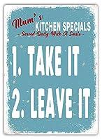 Mum's Kitchen Specials 金属板ブリキ看板警告サイン注意サイン表示パネル情報サイン金属安全サイン