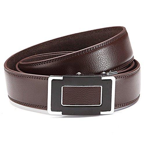 GIL-Design grille automatique 6013–2 ceinture en cuir marron - Marron - 105 cm
