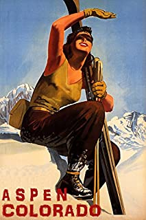 WINTER SPORT WITH SUN ASPEN COLORADO SKI MOUNTAINS WOMAN SKIING TRAVEL 20
