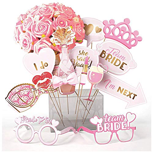 OleOletOy JGA Accessoires Frauen Foto Requisiten Team Bride Photo Booth Junggesellinnenabschied - Originelles Design für Eur Bachelorette Party am Polterabend