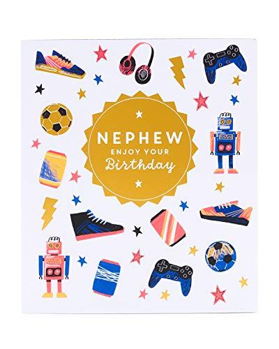 UK Greetings Geburtstagskarte für Neffen – Geburtstagskarte für Neffen – coole Geburtstagskarte für Gamer – Geburtstagsgeschenke für ihn – Geschenkkarte für Kinder – Geburtstagsgeschenke für ihn