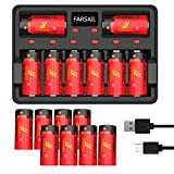 CR123A Rechargeable Battery, FARSAIL 16-Pack 800mAH Arlo Batteries Rechargeable 123A and Charger for Arlo VMC3030 VMK3200 VMS3130 3230C 3430 3530 Wireless Security Cameras, Flashlight and More