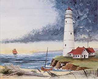 Lighthouse on the Bay 3D Decoupage - Paper Tole Craft Kit