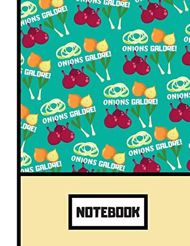 NOTEBOOK: Retro Onions Galore Pattern Novelty Gift - Onion Notebook for Teens, Men, Women, Kitchen