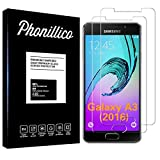 PHONILLICO [Pack de 2] Verre Trempe pour Samsung Galaxy A3 2016 SM-A310 - Film Protection Ecran...