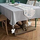 INTVN 8er Set Tischdeckenbeschwerer, Tischtuchbommeln zum Beschweren, Blume, In-& Outdoor, Edelstahl, Silber, 8 Stück - 6