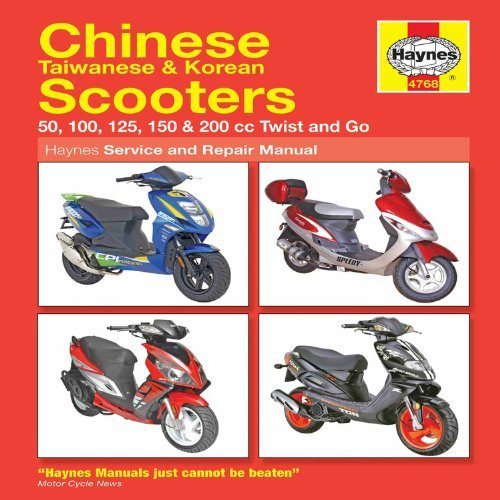 Chinese Scooters Service and Repair Manual (Haynes Service and Repair Manuals) by Phil Mather (14-Nov-2008) Paperback