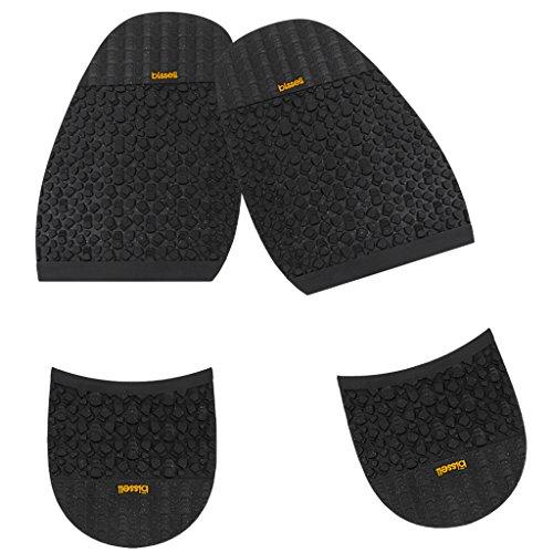 Suela de goma Footful, media 2,5mm y tacón 8mm para reparación de zapatos grandes