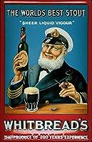 Whitbread Stout Sailor Pancarte en 金属板ブリキ看板警告サイン注意サイン表示パネル情報サイン金属安全サイン