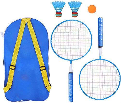 6 stücke Kinder Badminton Schläger Set Kinder Badminton Schläger Ball Aufbewahrungstasche Training Outdoor Sport Freizeit Spielzeug für Kinder Indoor / Outdoor Sport Spiel (blau) badminton sets