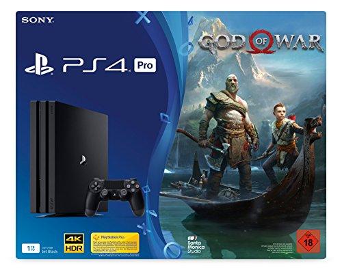 PlayStation 4 1TB PRO Black + God of War [Edizione: Germania]