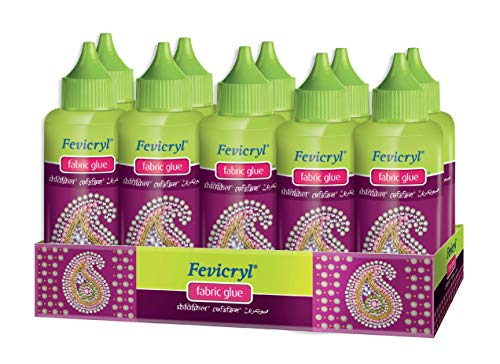 Pidilite Fevicryl Fabric Glue : Pack of 10 (80g Each)