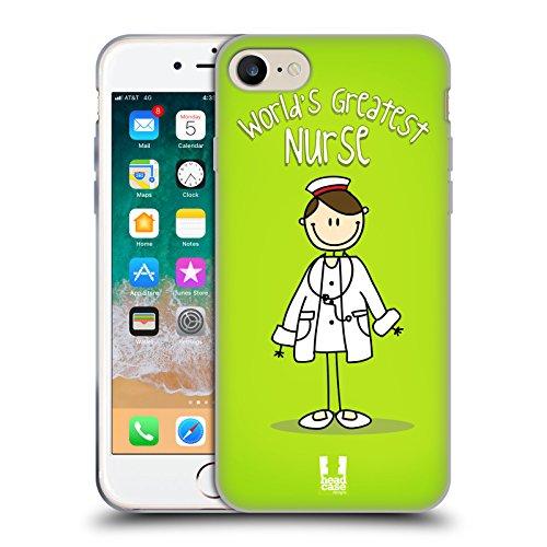 Head Case Designs Attendant Il Miglior Lavoro del Mondo Cover in Morbido Gel e Sfondo di Design Abbinato Compatibile con Apple iPhone 7 / iPhone 8 / iPhone SE 2020