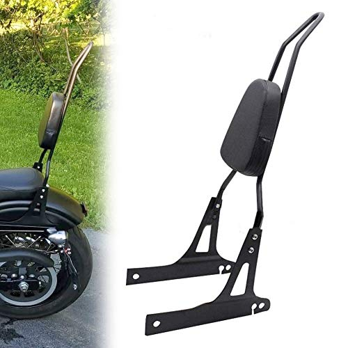Lo.gas Motorcycle Rear Seat BackRest Sissy Bar Back Rest for Harley-Davidson Dyna Fxd Fxdb Fxdc Fxdl Streetbob Wide Glide Low rider