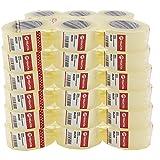 various Cinta Embalaje Cinta Adhesiva (48mm 200m) para Embalar Paquetes y Cajas de Envio Color Precinto Tranparente 36 Rollo