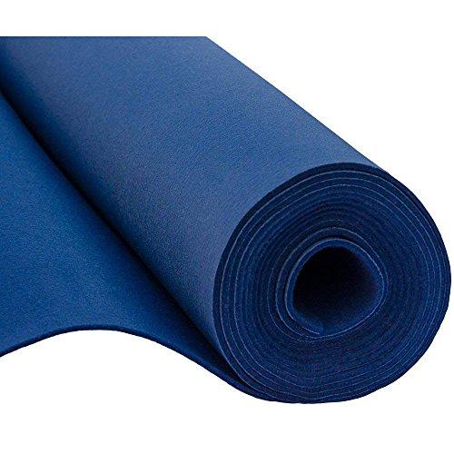 SOFT Filz, Filzstoff, Dekorationsfilz, Weicher Filz, Breite 150cm, Dicke 3mm, Meterware 0,5lfm - dunkelblau