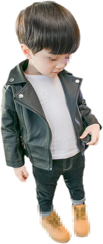 Yiqinyuan Fashion Girls Boys PU Coat Jacket Spring Autumn Winter Kids Baby Leather Jackets Overcoats Clothes