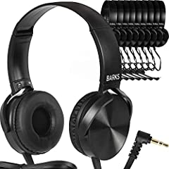 Premium Classroom Headphones — Durable, functional class set headphones are becoming increasingly important in today's technology enhanced classrooms, for K-12 and beyond. Our 10 pack of school head phones for students and kids help greatly enhance f...