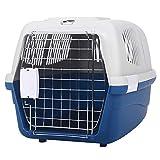 LXLA Transportin Portador portátil Grande y rígido para Mascotas con asa - Perrera de plástico para Mascotas para Gatos, Perros pequeños y medianos pequeños y Conejos - Aprobado por la aerolínea