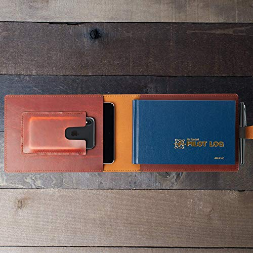 Leather Cover for Pilot Logbook/Wickett & Craig Full Grain Leather/Handmade in USA/Fits ASA-SP-57 and iPad mini