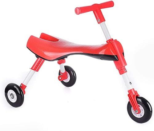 SYCHONG Scooter pour Enfants, Scooter Pliant pour Enfants légers, Direction à gravité, pour Enfants de 1 à 4 Ans, capacité de 45 kg,A2