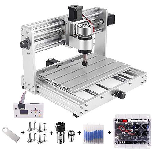 Vogvigo CNC Máquina cortadora de grabado de metal,fresadora de bricolaje con husillo de 200W,fresadora de PCB de 3 ejes,máquina CNC de control GRBL para madera,grabadora de (CNC 3018Pro Max)