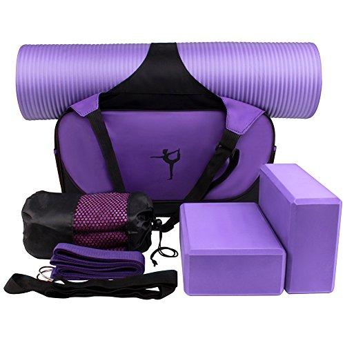 XGUO Kit de Yoga Accesorios para Yoga Juego Incluyen Estera de Yoga, Toallas de Yoga,...