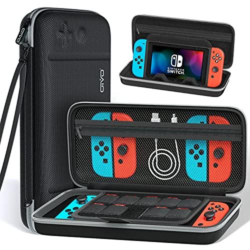OIVO Funda compatible con Nintendo Switch, funda con soporte para Nintendo Switch para Swtich/Switch Pro, funda con almacenamiento para 9 juegos, funda para Nintendo Switch para accesorios
