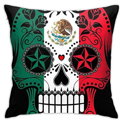 Amerikanische Flagge Sugar Skul.jpg Kissenbezug Soft Throw Pillow Couch Kissenbezug 45X45cm