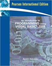Introduction to Programming Using Visual Basic 2008, An (w/VS2008 DVD): International Edition