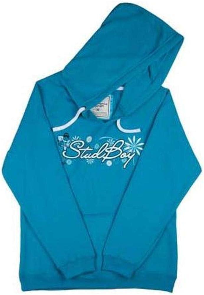 Stud Boy Girls Hoodie (Blue, X-Large)